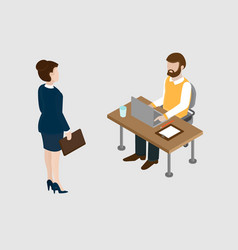 job interview concept conversation between the vector image