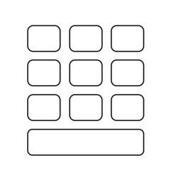 Keypad icon design vector