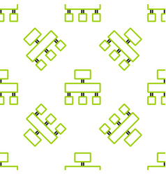 Line site map icon isolated seamless pattern on vector
