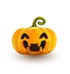 Lucky laughing halloween pumpkin vector