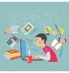 Mathematics Student Concept vector