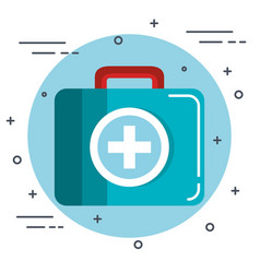 medical briefcase design vector image