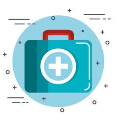 Medical briefcase design vector