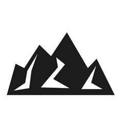 mountain black icon hiking and business emblem vector image