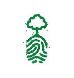 Nature finger print concept made green leaves vector