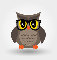 Owl in glasses sticker pin patch icon vector