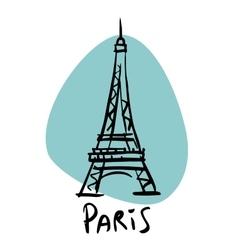Paris the capital of France Eiffel tower vector image