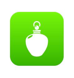 Perfume bottle merchandise icon green vector