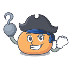 Pirate mochi character cartoon style vector