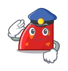 Police quadrant character cartoon style vector
