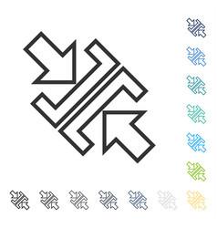 Pressure arrows diagonal icon vector