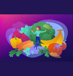 raw veganism concept vector image