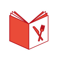 recipe book isolated icon vector image