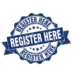 register here stamp sign seal vector image