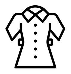 school uniform icon outline style vector image
