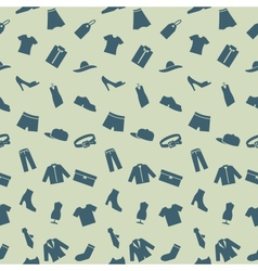 Seamless pattern with clothes footwear and vector