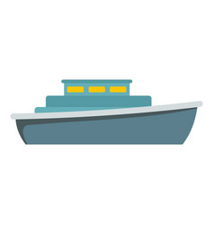 ship design icon flat style vector image