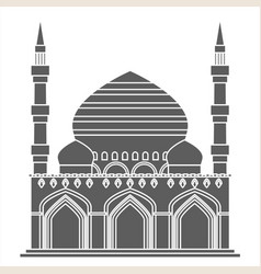 Silhouette islam traditional architecture muslim vector