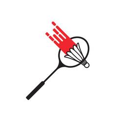 Smash badminton icon design template isolated vector