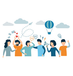 social network and teamwork concept for web vector image