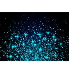 Sparkling background luminous blue Stars Explosion vector image