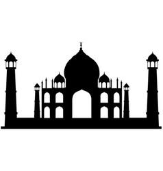 taj mahal indian agra temple vector image