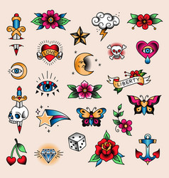 tattoo set mini vector image