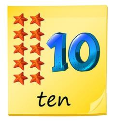 Ten stars vector image