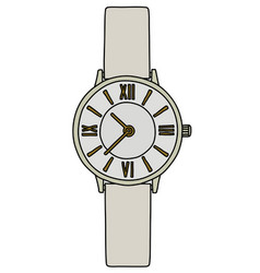 The white ladies wrist watches vector