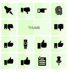 Thumb icons vector