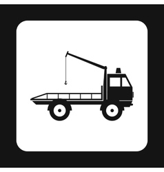 Tow truck icon simple style vector