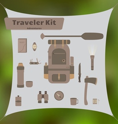 Traveler Kit vector image