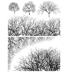 Tree design elements vector