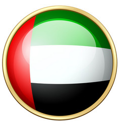 united arab emirates flag on round icon vector image