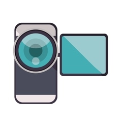 Videocamera device icon vector