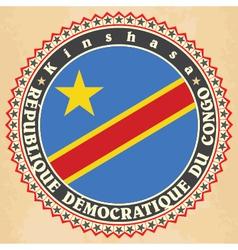 Vintage label cards democratic republic the vector