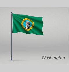waving flag washington - state united vector image