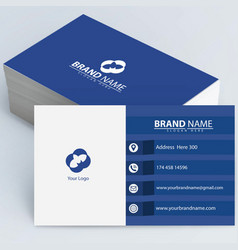 white and blue business card vector image