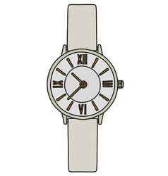 White ladies wrist watches vector