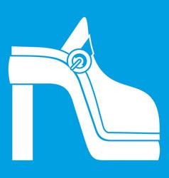 Women shoe icon white vector