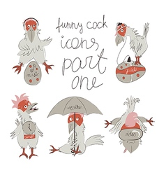 cock icons part one vector image
