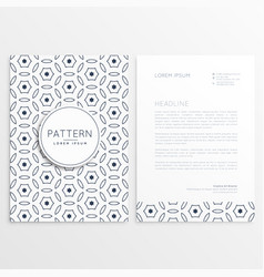 Minimal elegant letterhead design with front and vector