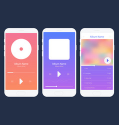 mobile app music player set different variations vector image