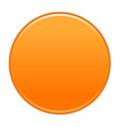 orange circle button empty web internet icon vector image vector image