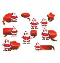 Santa labels set vector image