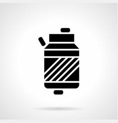 Sport vitamin container glyph style icon vector