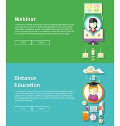 Webinar and Distance Education vector image