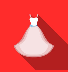 wedding dress icon of for web vector image vector image