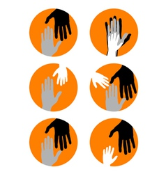 Conceptual background with hands vector image