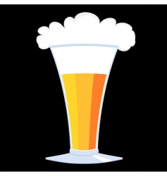glasses of beer vector image vector image
